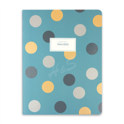 Victoria's Journals Trendy Dots Turkuaz 19x25 cm Çizgili Defter 1226 - Thumbnail