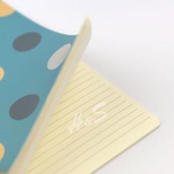 Victorias Journals - Victoria's Journals Trendy Dots Turkuaz 19x25 cm Çizgili Defter 1226 (1)