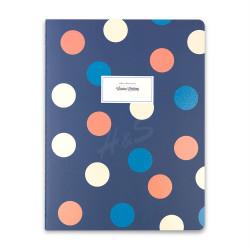 Victoria's Journals - Victoria's Journals Trendy Dots Mavi 19x25 cm Çizgili Defter 1226