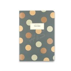 Victoria's Journals - Victoria's Journal Yeşil 14x20 cm Puantiyeli Çizgili Defter