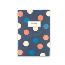 Victoria's Journals - Victoria's Journal Mavi 14x20 cm Puantiyeli Çizgili Defter