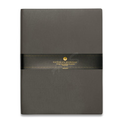 Victoria's Journals - Victoria's Journals Gri 19X25 cm 96 Yaprak Çizgili Defter