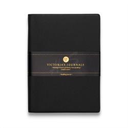 Victoria's Journals - Victoria's Journal Siyah 10X14 cm 96 Yaprak Çizgili Defter