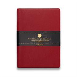 Victoria's Journals - Victoria's Journals Kırmızı 10X14 cm 96 Yaprak Çizgili Defter