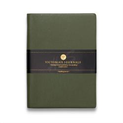 Victoria's Journals - Victoria's Journal Yeşil 10X14 cm 96 Yaprak Çizgili Defter