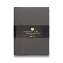 Victoria's Journals - Victoria's Journals Gri 10X14 cm 96 Yaprak Çizgili Defter