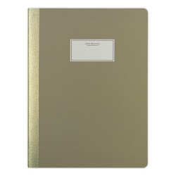 Victoria's Journals - Victoria's Journal Taylor Colori Taupe 19x25 cm 112 Sayfa Çizgili Defter 1128