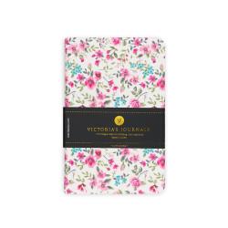 Victoria's Journals - Victoria's Journals Felxy Bahar Serisi 9x14 cm Çizgili Planner Beyaz-Pembe