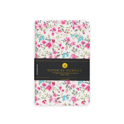 Victorias Journals - Victoria's Journals Felxy Bahar Serisi 9x14 cm Çizgili Planner Beyaz-Pembe 1227