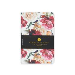 Victoria's Journals - Victoria's Journals Felxy Bahar Serisi 9x14 cm Çizgili Planner Beyaz-Kırmızı 1227