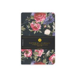 Victorias Journals - Victoria's Journals Felxy Bahar Serisi 9x14 cm Çizgili Planner Siyah-Kırmızı 1227