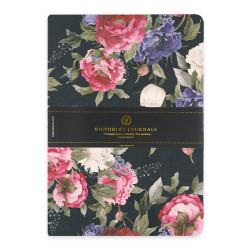 Victoria's Journals - Victoria's Journals Felxy Bahar Serisi 14x20 cm Çizgili Planner Siyah-Kırmızı