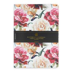 Victoria's Journals - Victoria's Journals Felxy Bahar Serisi 14x20 cm Çizgili Planner Beyaz-Kırmızı