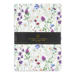 Victoria's Journals - Victoria's Journals Felxy Bahar Serisi 14x20 cm Çizgili Planner Beyaz-Mor