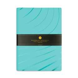 Victoria's Journals - Victoria's Journals Foil 14x20 cm Çizgili Defter Turkuaz Sinyaller