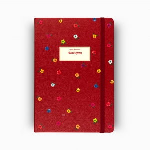 Victorias Journals - Victoria′s Journals Mini Flowers A5 Dot (Noktalı) Defter Bordo 4233