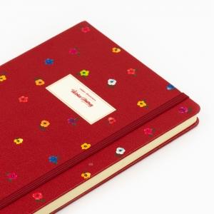 Victorias Journals - Victoria′s Journals Mini Flowers A5 Dot (Noktalı) Defter Bordo 4233 (1)