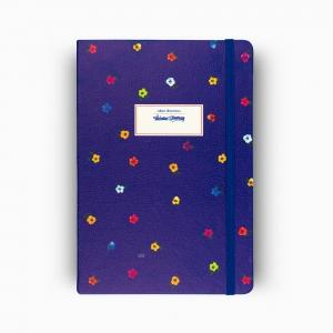 Victorias Journals - Victoria′s Journals Mini Flowers A5 Dot (Noktalı) Defter Gece Mavisi 4233