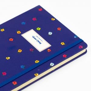 Victorias Journals - Victoria′s Journals Mini Flowers A5 Dot (Noktalı) Defter Gece Mavisi 4233 (1)