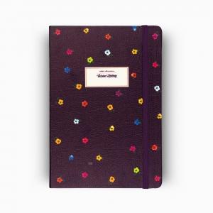 Victoria′s Journals Mini Flowers A5 Dot (Noktalı) Defter Mor 4233 - Thumbnail