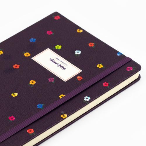 Victoria′s Journals Mini Flowers A5 Dot (Noktalı) Defter Mor 4233