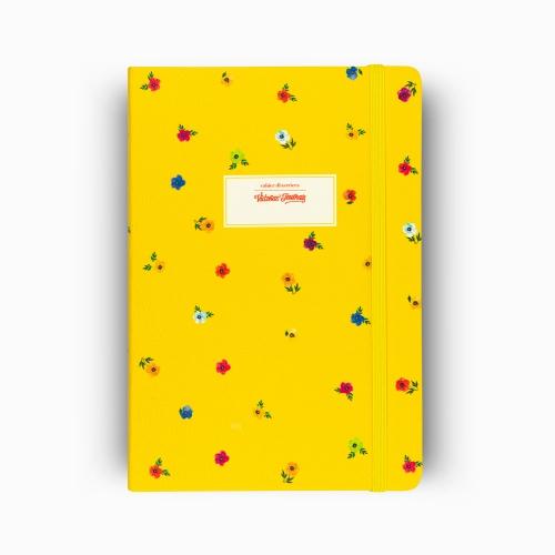 Victoria′s Journals Mini Flowers A5 Dot (Noktalı) Defter Sarı 4233