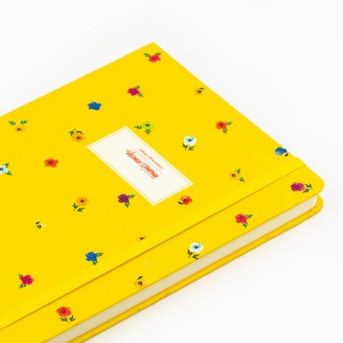 Victoria's Journals Mini Flowers A5 Dot (Noktalı) Defter Sarı 4233