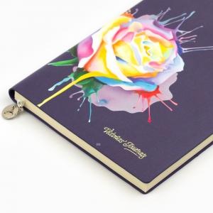 Victorias Journals - Victoria′s Journals Rose Smyth A5 Çizgili Defter Mor 3977 (1)