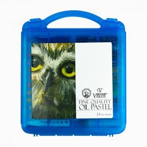 Vincent 24'lü Oil Pastel Set Mavi Kutu 6858 - Thumbnail