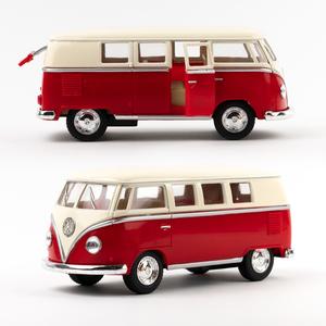 Volkswagen - Volkswagen 1962 Classical Bus Die Cast Çek Bırak Minibüs Kırmızı 1436