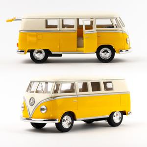 Volkswagen - Volkswagen 1962 Classical Bus Die Cast Çek Bırak Minibüs Sarı 1436