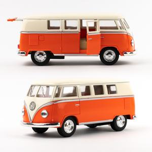 Volkswagen - Volkswagen 1962 Classical Bus Die Cast Çek Bırak Minibüs Turuncu 1436