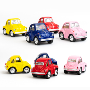 Volkswagen - Volkswagen Little Beetle Mini Metal Çek Çek Araba (Volkswagen Official Licensed Product)