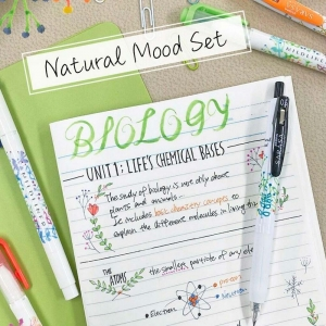 Zebra Limited Edition Naturel Mood Set - Sarasa Clip - Mildliner - Mildliner Brush 4219 - Thumbnail