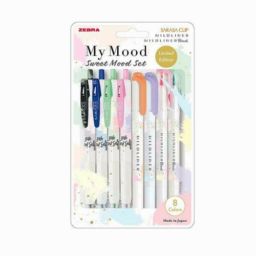 Zebra Limited Edition Sweet Mood Set - Sarasa Clip - Mildliner - Mildliner Brush 4226