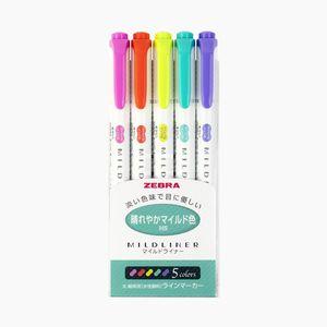 Zebra Mildliner Çift Taraflı İşaretleme Kalemi Canlı Renkler 1023 - Thumbnail