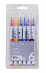 Zig Kuretake - Zig Clean Color Fırça Kalem 6'lı