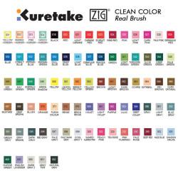 Zig Kuretake - Zig Clean Color Real Brush Fırça Uçlu Marker Kalem 036 Light Blue (1)