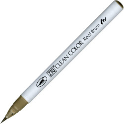 Zig Kuretake - Zig Clean Color Real Brush Fırça Uçlu Marker Kalem 094 Kahve