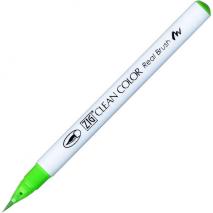 Zig Kuretake - Zig Clean Color Real Brush Fırça Uçlu Marker Kalem Neon Yeşil